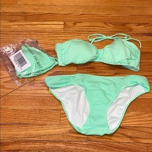Victoria's Secret Bright Mint Green Bikini 2 tops